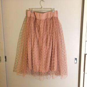 Dresses & Skirts - Pink Tulle Full Skirt with polka dot pattern